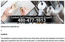 Glossary for Locksmith in Cave Creek  - Click here to download